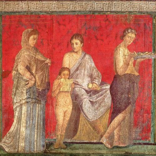 La pittura romana e gli arcani affreschi della Villa dei Misteri a Pompei